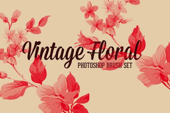 Free vintage floral Photoshop brushes — Charming Ink