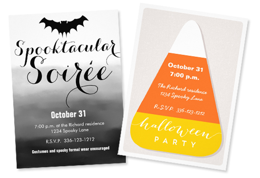 Spooktacular Soirée   Invite and   Candy Corn   Invite