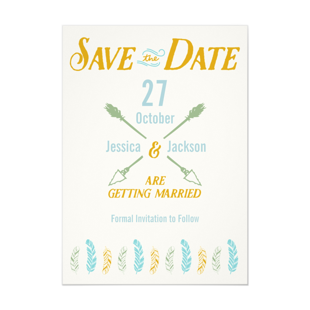 Feather Arrow Invitations