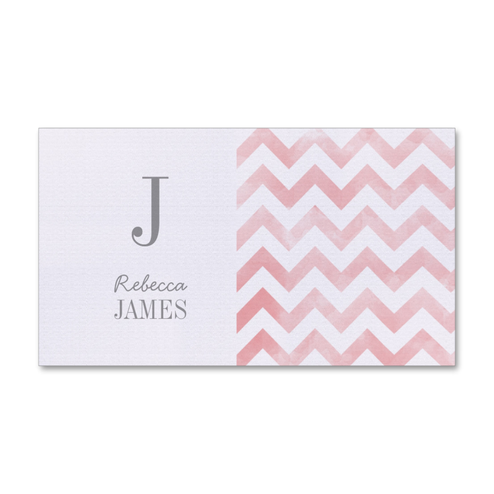 Monogram Pink Chevron