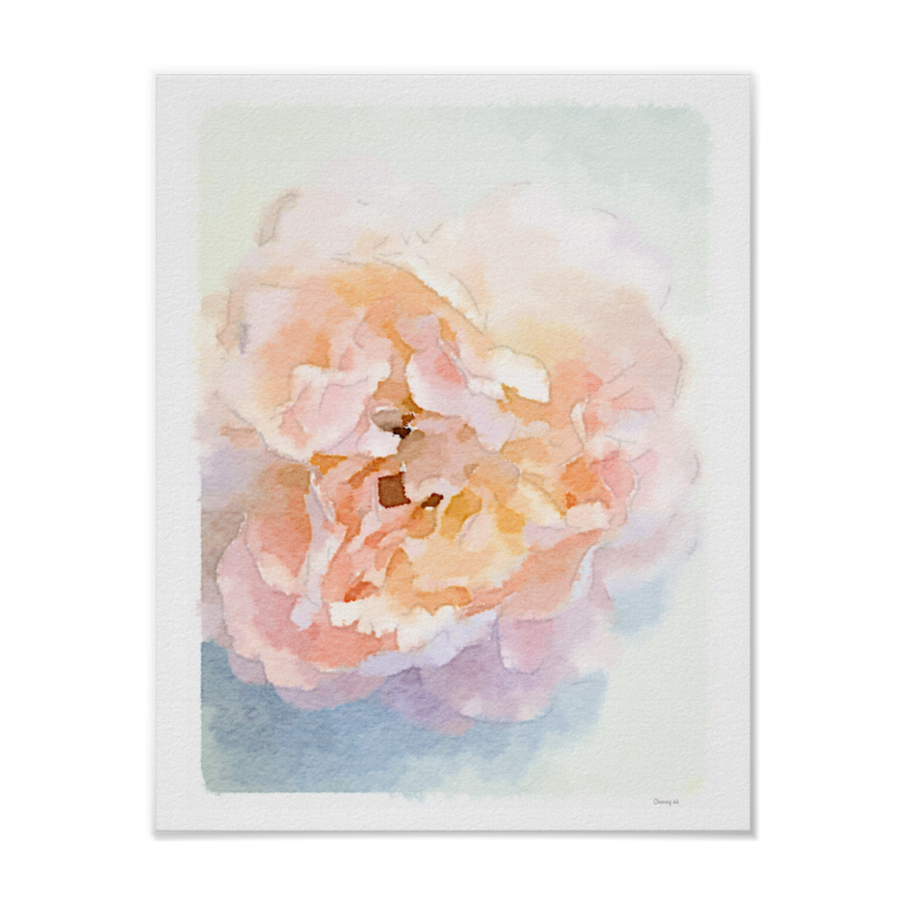 Watercolor Peonies Art Print