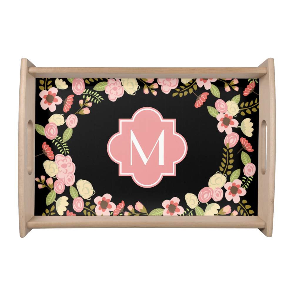 Botanical Monogram Serving Tray