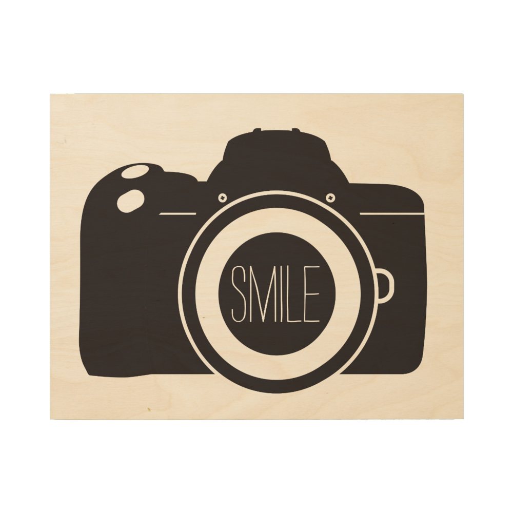 Camera SMILE Wood Canvas