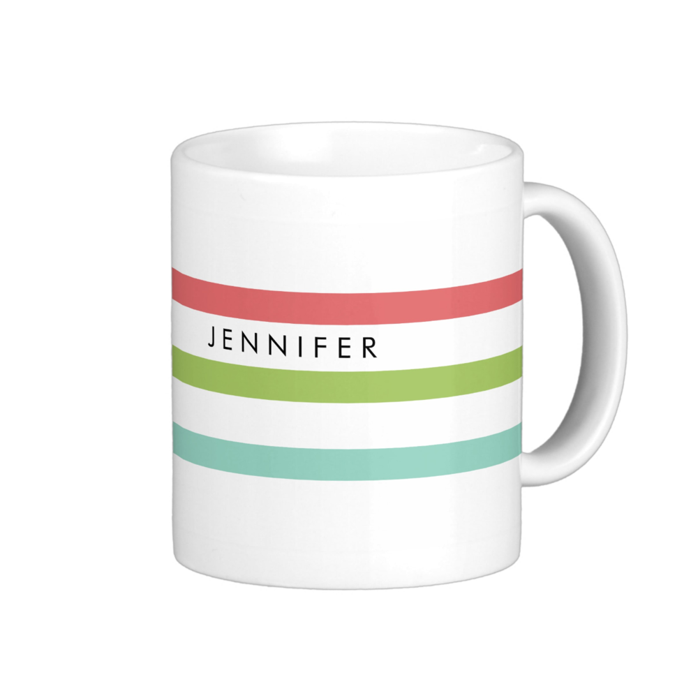 Simple Stripes Personalized Mug
