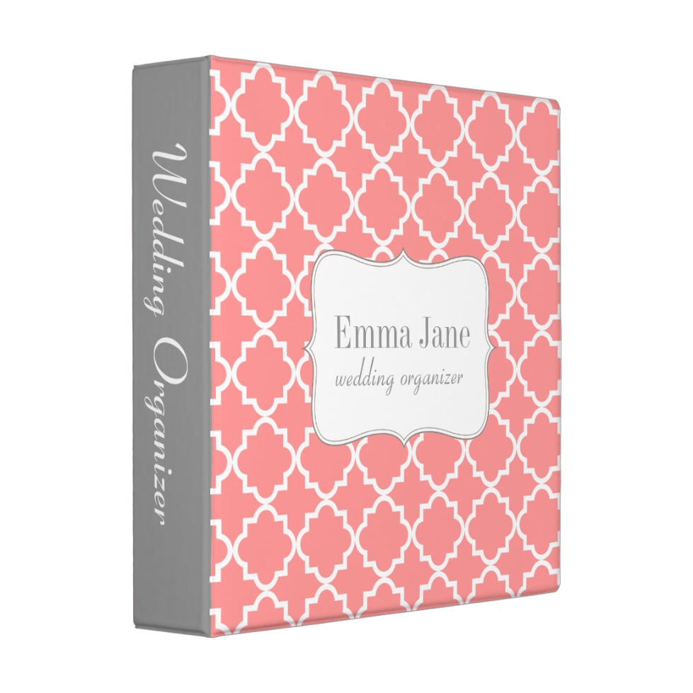 Personalized Quatrefoil Pattern 3 sizes