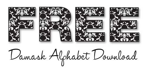 Free Damask Alphabet Download