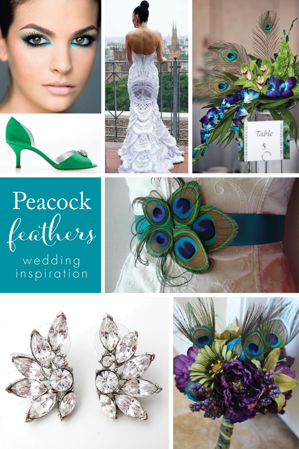 Peacock feathers at wedding