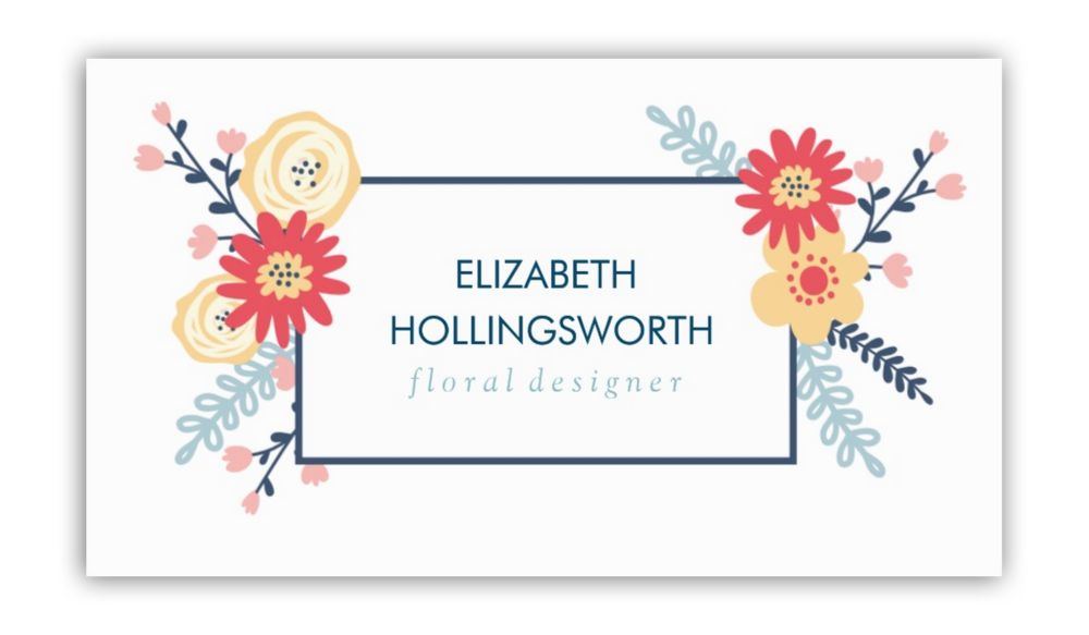 Graphic Floral Business Cards — Charming Ink