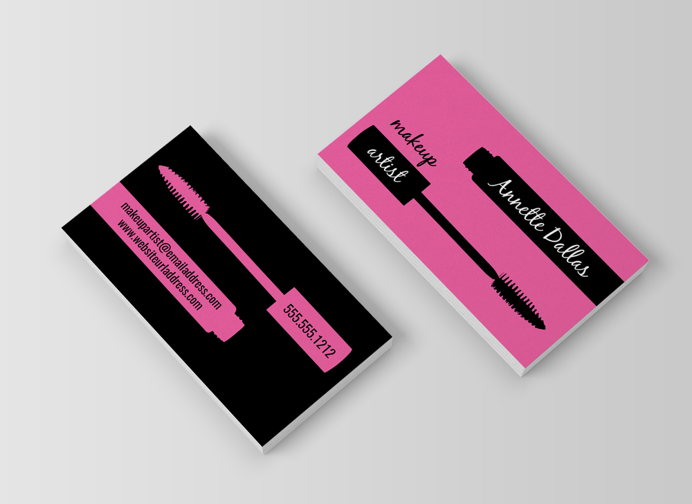 Makeup artist business card template charming ink makeup artist business card template flashek Image collections