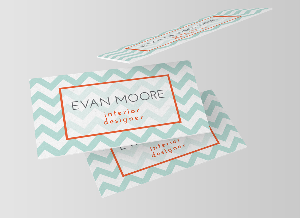 Chevron business card template charming ink colourmoves