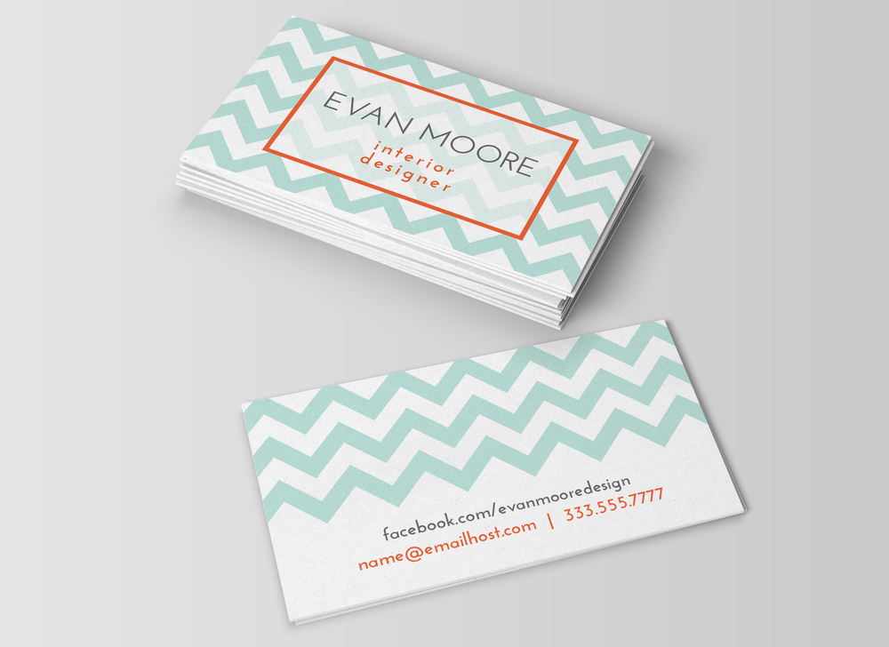 Chevron business card template charming ink chevron business card template colourmoves