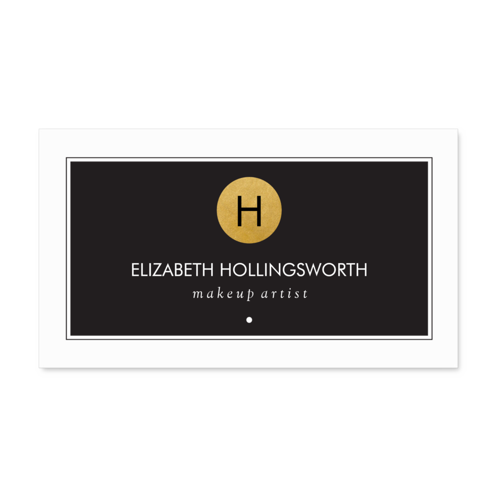Circle Monogram Business Cards