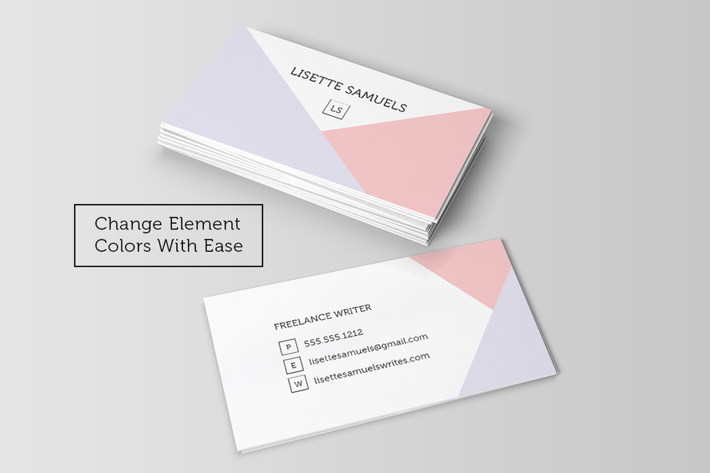 Angles Business Card Template — Charming Ink