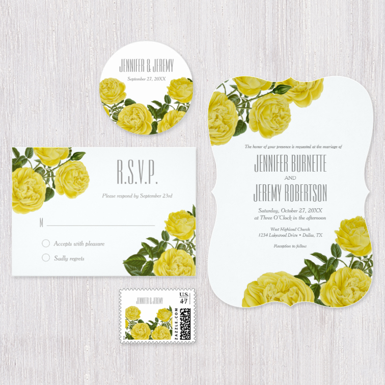 Vintage Yellow Roses