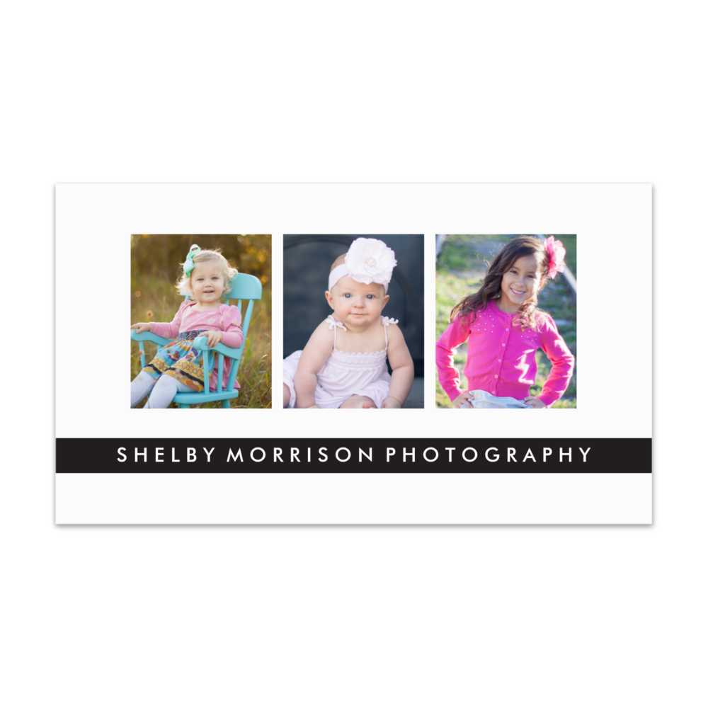 Trio Photography Card