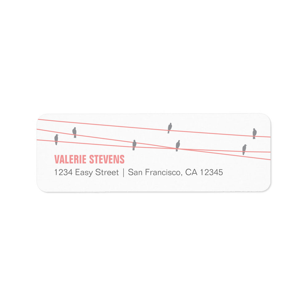 Birds on a Wire Address Labels