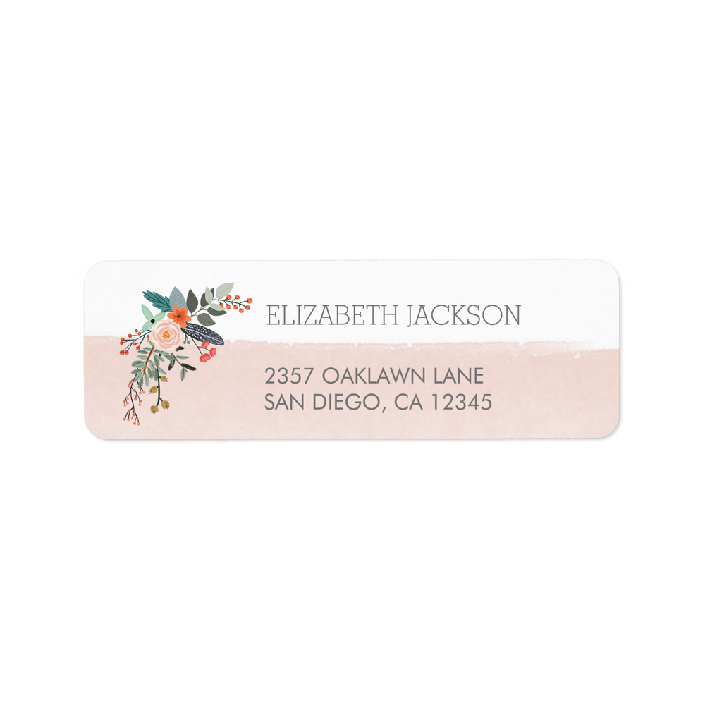Pretty Posy Address Labels
