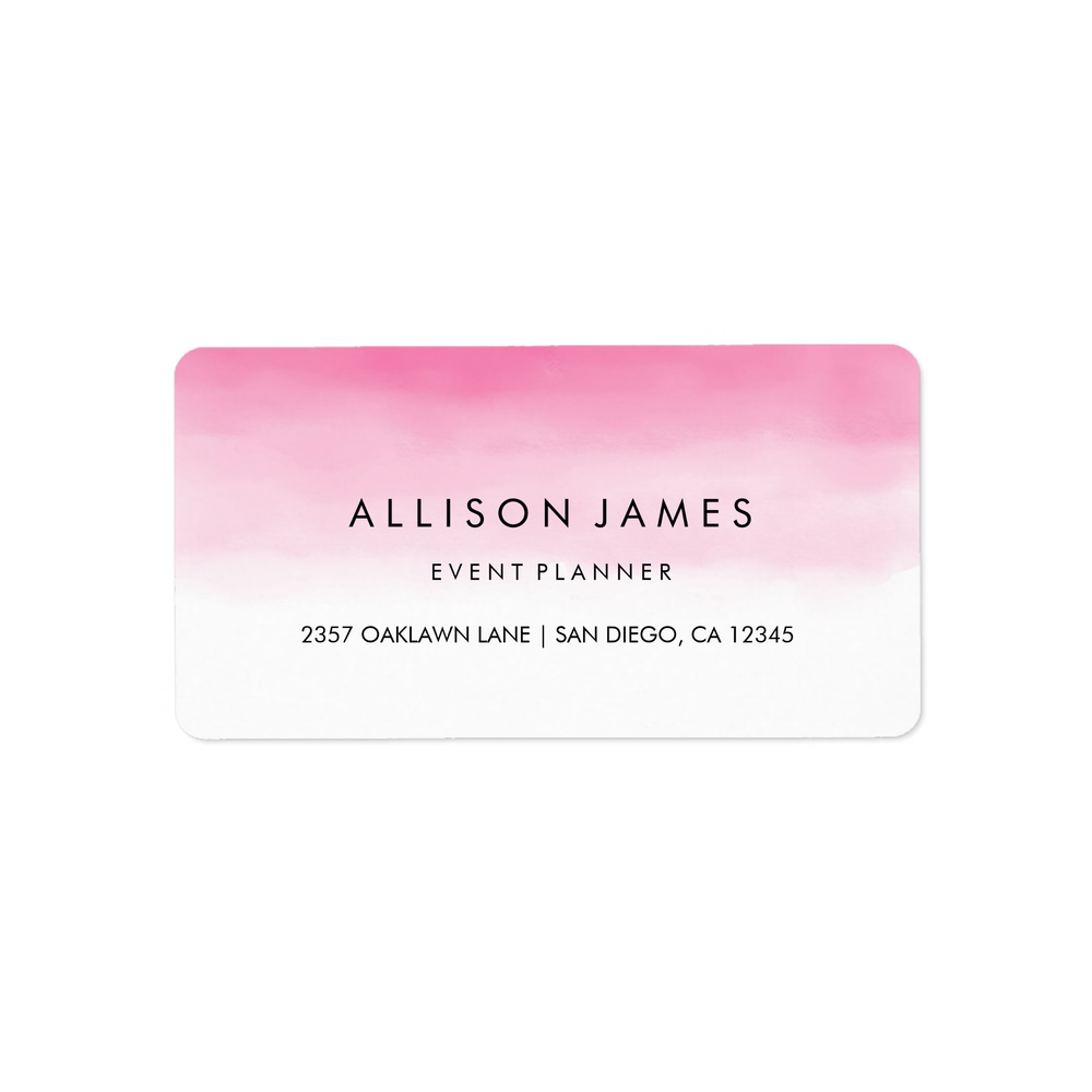 Pink Ombre Address Label