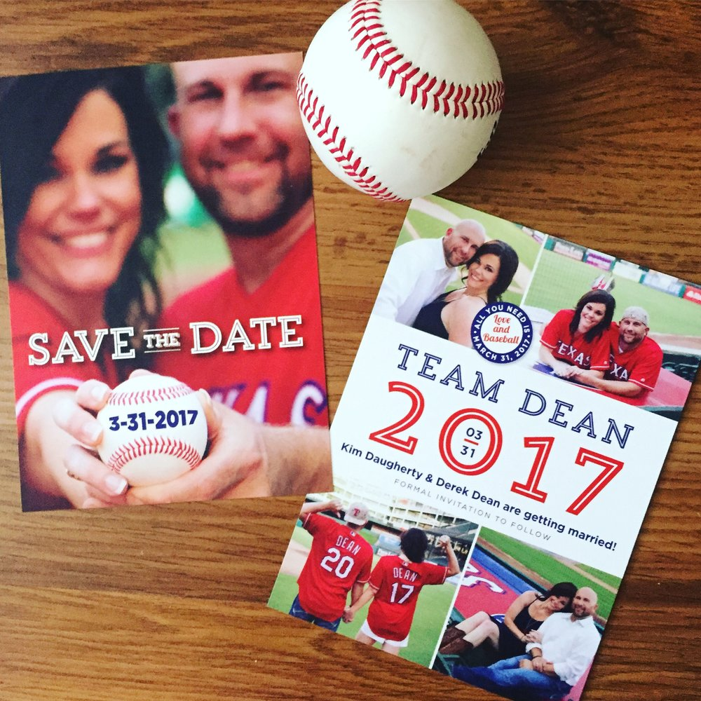 save the date baseball style charming ink
