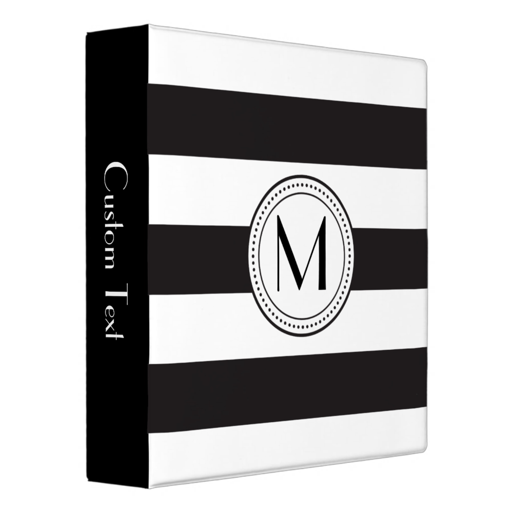 Monogram Stripes Binder