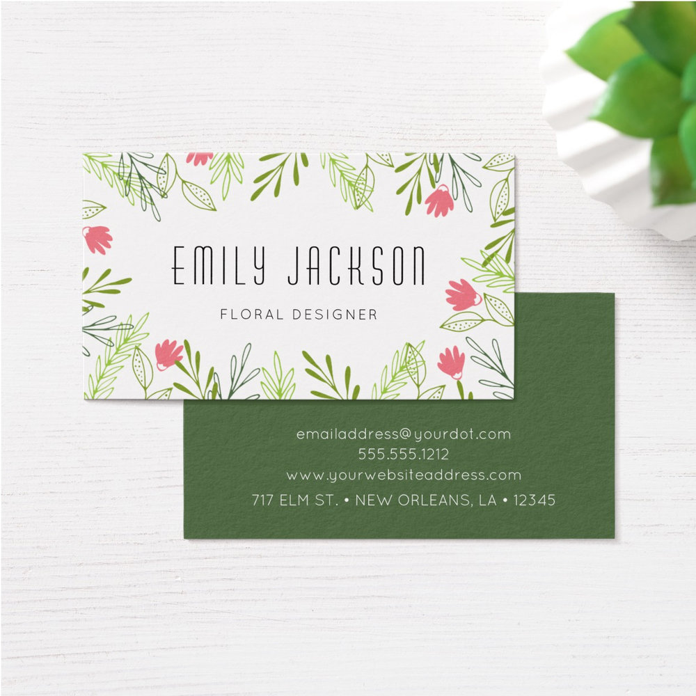 Wildflowers Business Card