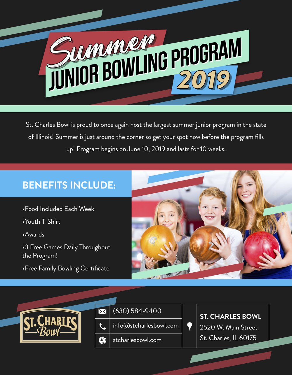 Summer Junior Bowling League - St. Charles Bowl