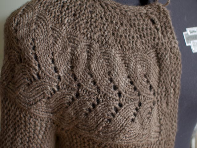 the vine lace pattern has a rather cabley feel