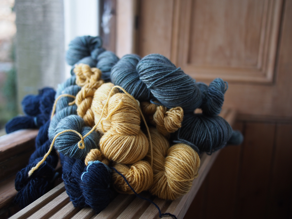 Fresh skeins are more appealing than unfinished sweaters.