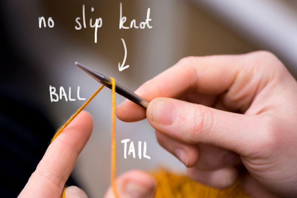 Don't make a slip-knot for the beginning of a long tail cast on, just lay the yarn over the needle.