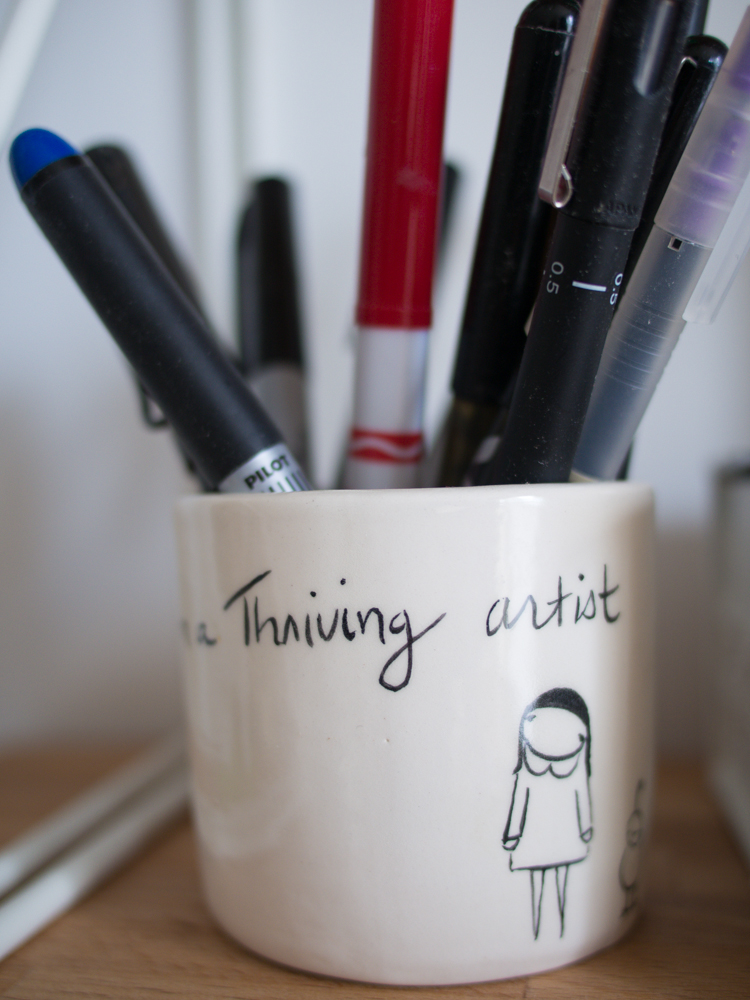 'I am a thriving artist' cup from Marisa Anne.