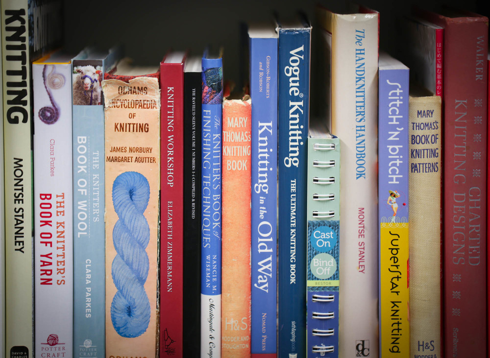 A few of the reference books I always have close to hand.