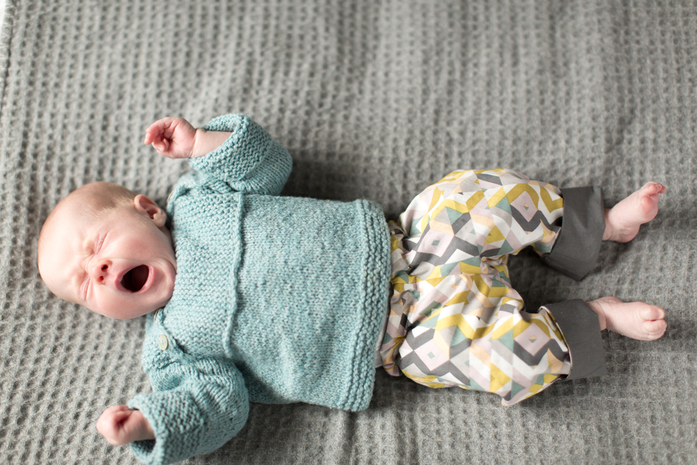Wee Envelope baby sweater by Ysolda