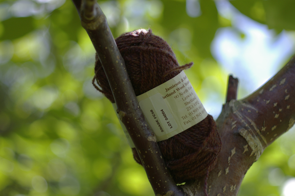 FC58 from the Jamieson & Smith 2-ply Jumper Weight range is surprisingly similar to the bark