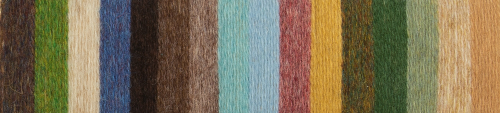Found palette: yarn shades chosen through colour matching