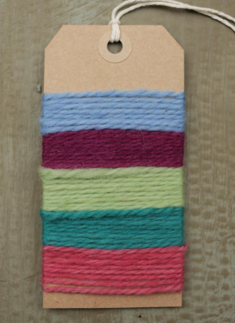 Bex's palette of five colours.