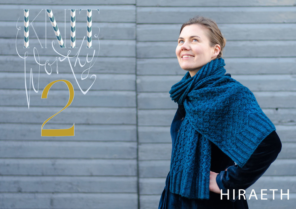 The Hiraeth scarf from Ysolda's Knitworthy 2 collection