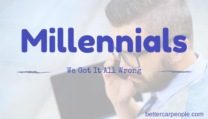 Millennials and Automotive: We got it all wrong!