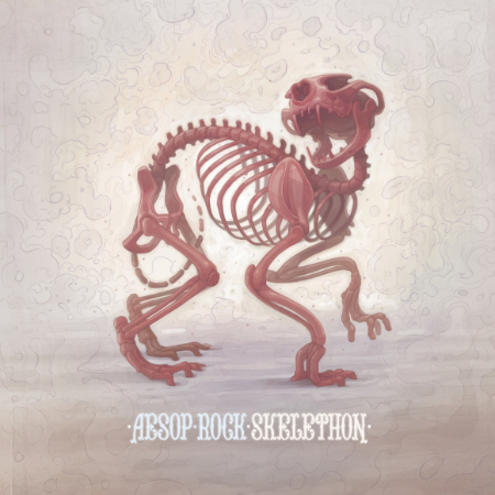 Aesop Rock's latest, Skelethon.  Image borrowed.