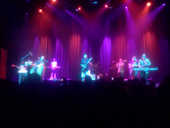 Katchafire, with a punchy horn section and clutch auxiliary percussion.