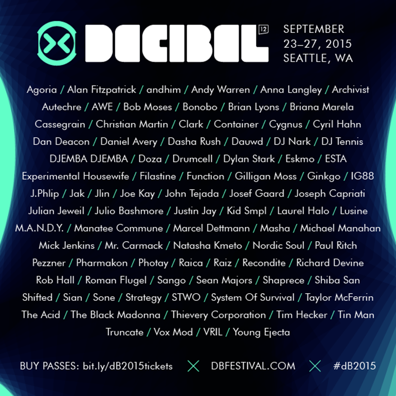 dBFestival's full lineup