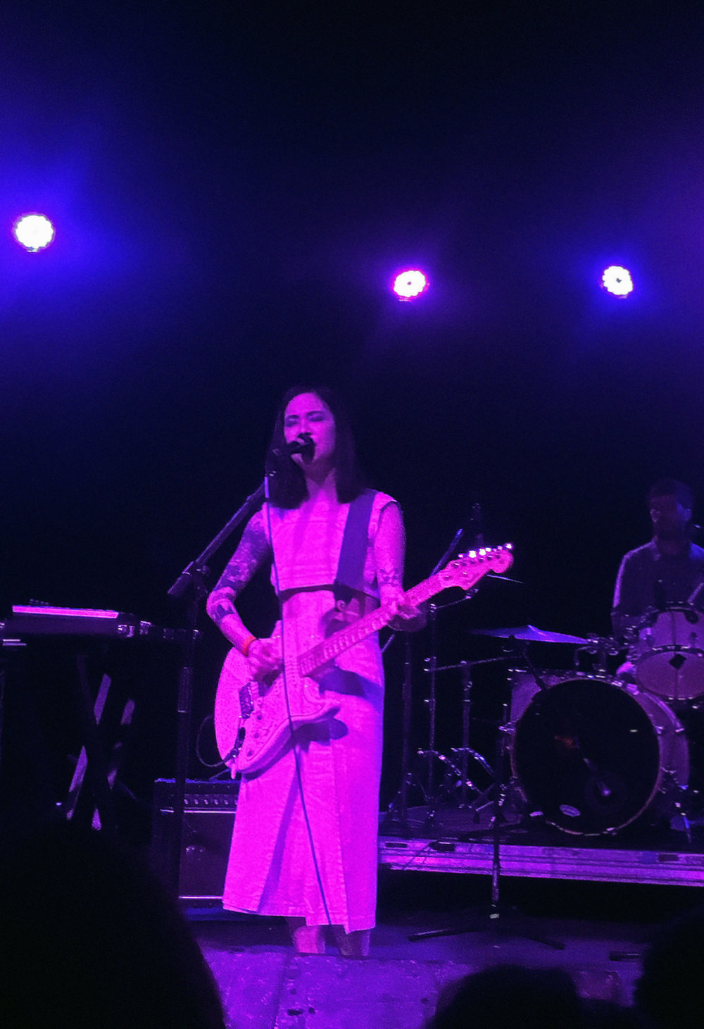 Michelle Zauner singing in Japanese Breakfast
