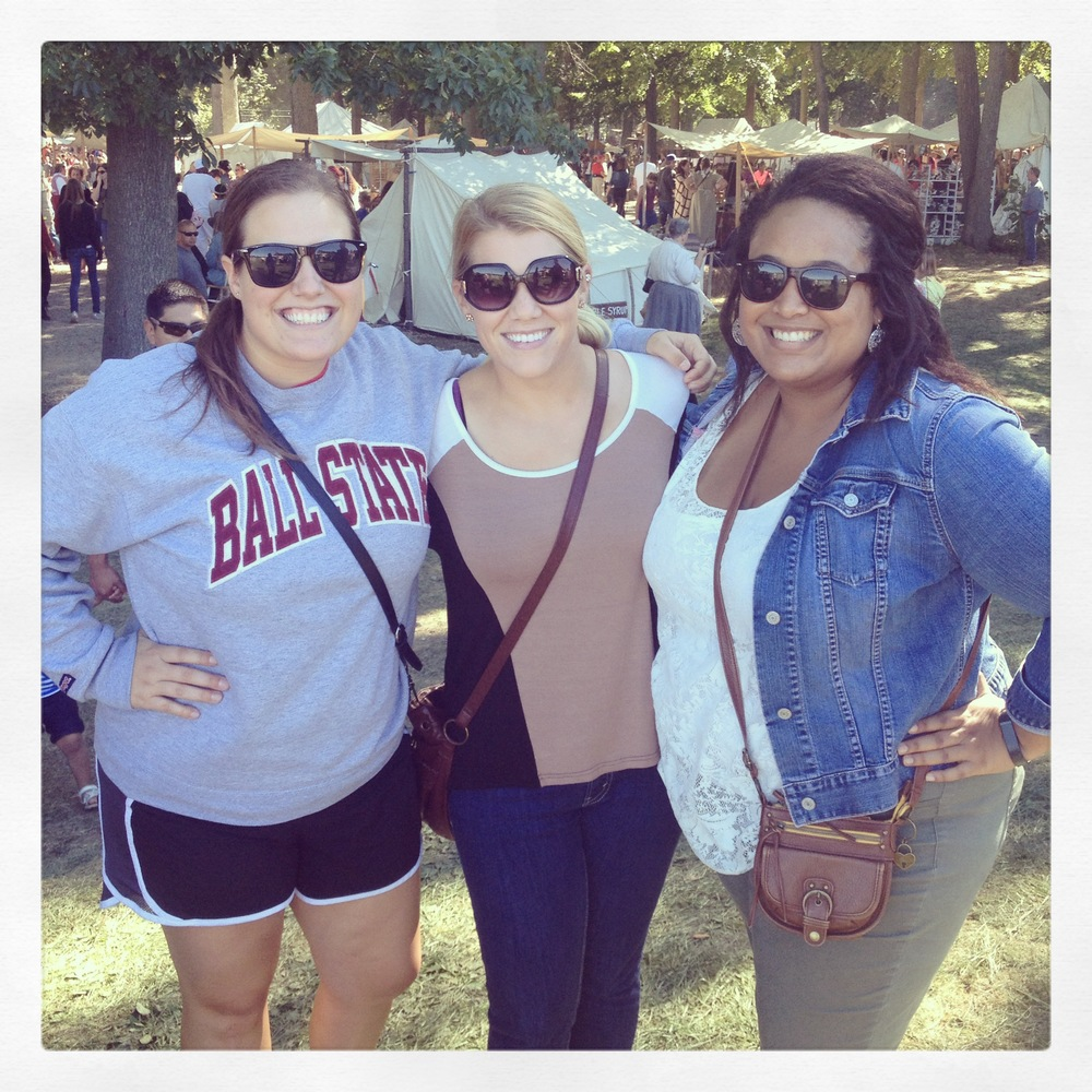 Kassie, Kelsey and I at our hometown's best festival, Johnny Appleseed, officially welcoming fall