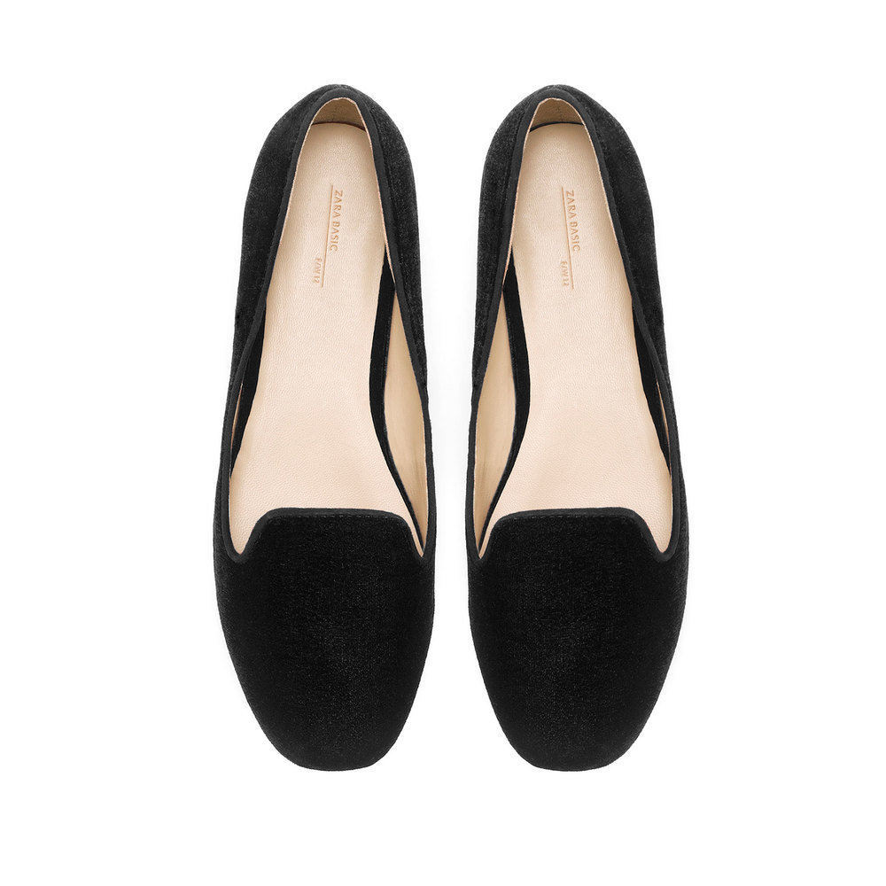 Plain Zara Velvet Slippers