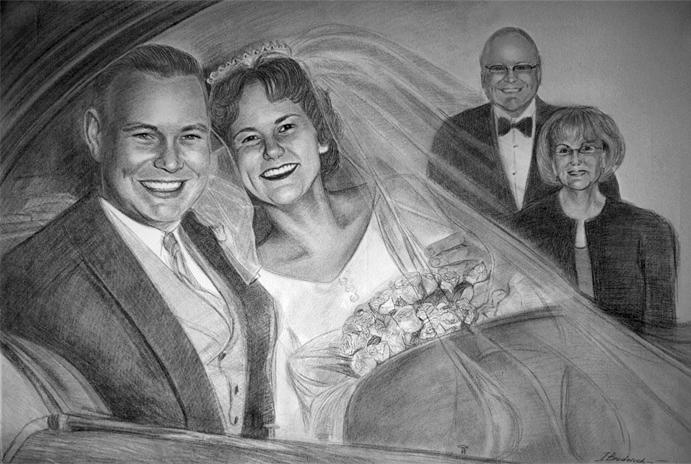 Portraits vom Foto, Zeichnungen vom Foto und Gemälde.