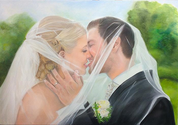Öl Gemälde vom Foto