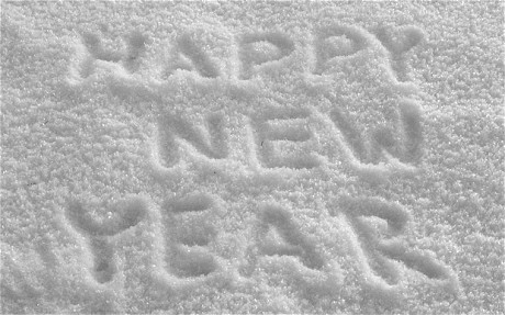 happy new year virtual snow