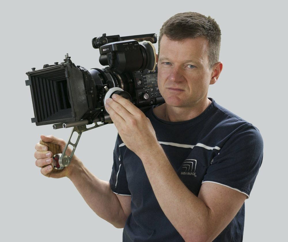 Melbourne based Freelance Cinematographer David Mirabella with the Sony PMW-F5