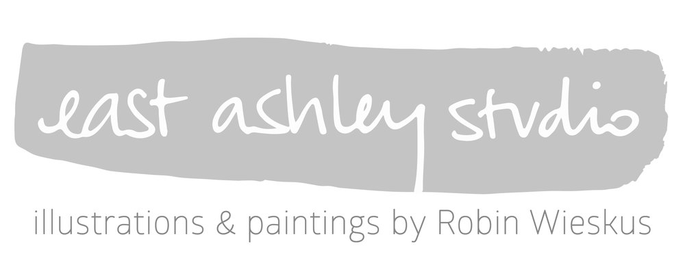 east ashley studio // illustrations and paintings by Robin Wieskus