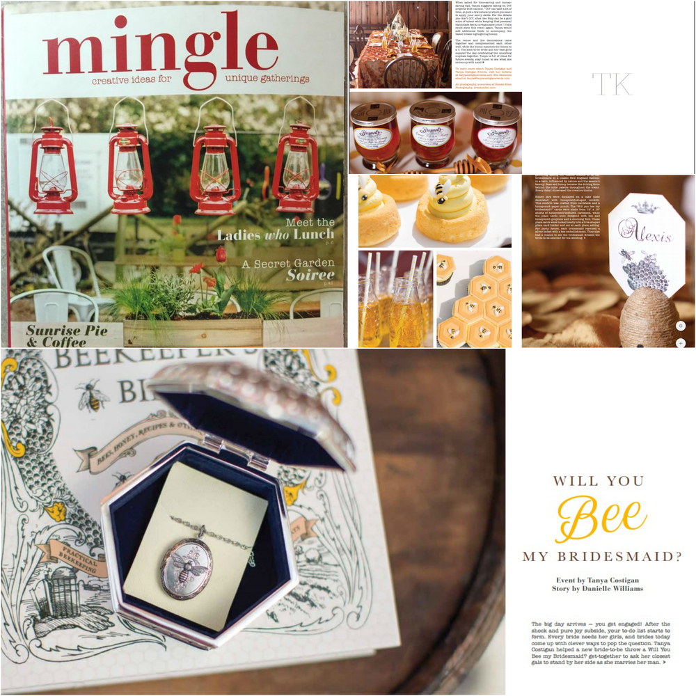 Tanya Costigan Events is so excited to be featured in print! Mingle Magazine Winter 2016 issue...look for it at stores like Barnes & Noble, Michael's and more! You can also purchase it online. Concept & Styling: Tanya Costigan Events Photography: Brooke Ellen Photography Sweets: Cupcake Closet Location: Bliss Farm, Granville MA