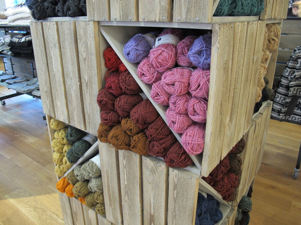 Crates of wool